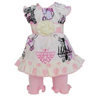 AnnLoren Paris Poodles Dress and Leggings 18-inch Doll Clothing Set