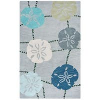 Rizzy Home Cabot Collection CA9464 Blue and Grey Area Rug - 8' x10'