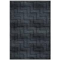 "Rizzy Home Carrington Collection CG5514 Black and Grey Area Rug (6'7 x 9'6) - 6'7"" x 9'6"""