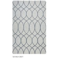 Rizzy Home Catrine Collection Khaki and Beige Area Rug (5'x 8') - 5' x 8'
