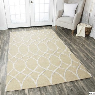 Rizzy Home Catrine Collection Khaki and Beige Area Rug (5'x 8')