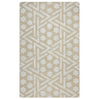 Rizzy Home Catrine Collection CE9485 Beige Area Rug (5'x 8')
