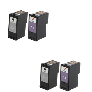 4 Pack Lexmark 18C0032 #32 18C0033 #33 Compatible Ink Cartridge For Lexmark Z810 Z812 ( Pack of 4 )