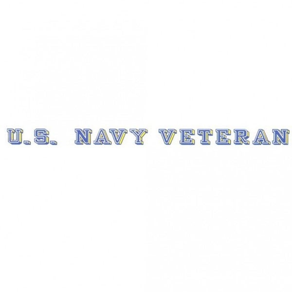 US Navy Veteran Car Decal