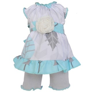 AnnLoren Blue and Grey Birds Dress 18-inch Doll Clothing Set