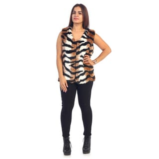 Women's Animal Print Faux Fur Vest