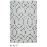 Rizzy Home Caterine Collection Beige and Khaki Area Rug - 9' x 12'