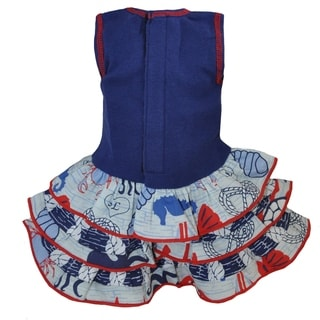AnnLoren Blue Seaside Nautical 18-inch Doll Clothing Set