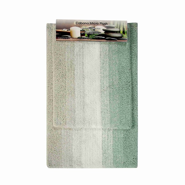 Cabana Striped Microplush Bathmat (set of 2)