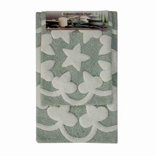 Cabana Star Microplush Bathmat (set of 2)