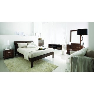 Hudson Mid-Century 5 Piece Bedroom Set, Cocoa