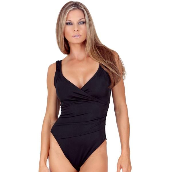 InstantFigure Women's One-Piece Wrap Swimsuit. Opens flyout.