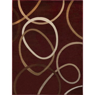"Home Dynamix Tribeca Collection Contemporary Red Area Rug (1'9"" x 7'2"")"