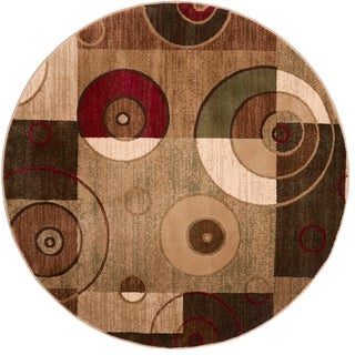 Home Dynamix Tribeca Collection HD5391-999 Multicolored Area Rug (7'10 Round)