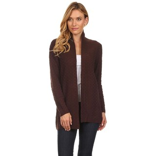 High Secret Women's Open Front Drape Cardigan (Option: Brown)