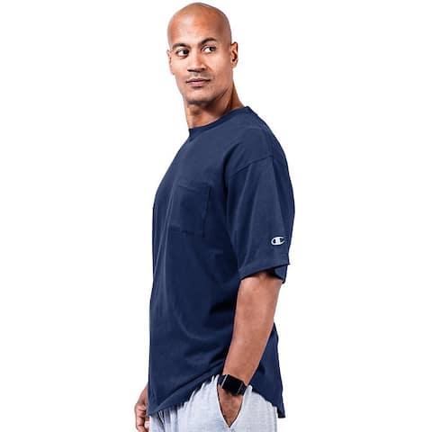 Champion Men's Big and Tall Short-Sleeve Pocket Jersey T-Shirt