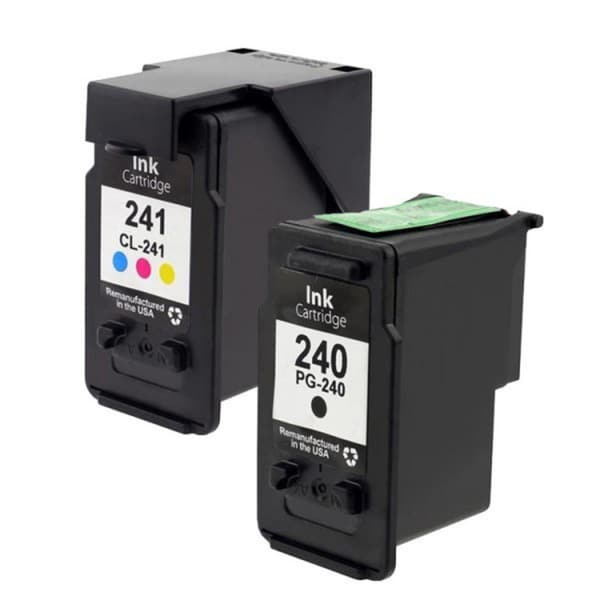 TCI Re-manufactured Replacement Ink Cartridges for Canon PG-240XXL Black/ CL-241XL Color (Pack of 2)