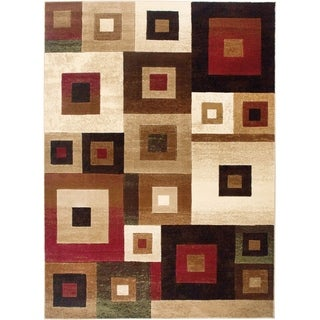 "Home Dynamix Tribeca Collection Contemporary Multicolored Area Rug - 3'3"" x 4'7"""