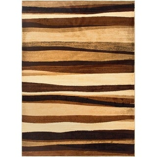 Home Dynamix Tribeca Collection HD5374-500 Brown Area Rug (3'3 x 4'7)