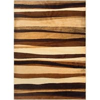 "Home Dynamix Tribeca Collection Contemporary Brown Area Rug - 3'3"" x 4'7"""