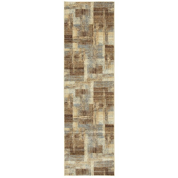 Rizzy Home Bennington Collection BI5563 Ivory and Blue Area Rug (3'3 x 5'3)