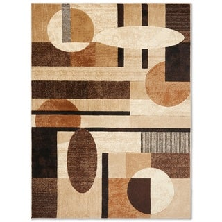 "Home Dynamix Tribeca Collection Contemporary Multicolor Area Rug (39"" X 55"" ) - 3'3"" x 4'7"""