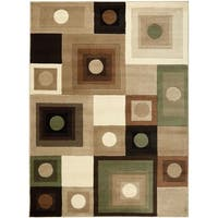 "Home Dynamix Tribeca Collection Contemporary Brown-Green Area Rug - 3'3"" x 4'7"""