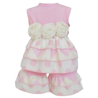 AnnLoren Pink Chevron Rumba 18-inch Doll Clothing Set