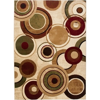 "Home Dynamix Tribeca Collection Contemporary Ivory-Multi Area Rug - 3'3"" x 4'7"""