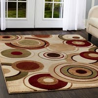 """Home Dynamix Tribeca Collection Contemporary Ivory-Multi Area Rug - 3'3"""" x 4'7"""""""