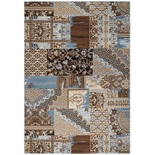 Rizzy Home Bennington Collection BI5564 Brown Area Rug (5'3 x 7'7)