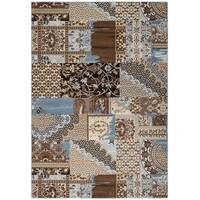 "Rizzy Home Bennington Collection BI5564 Brown Area Rug - 5'3"" x 7'7"""