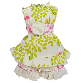 AnnLoren Pink Floral Birds Damask 18-inch Doll Clothing Set