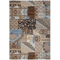 Rizzy Home Bennington Collection BI5564 Ivory Area Rug - 9' x 12'
