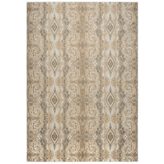 Rizzy Home Bennington Collection BI5568 Khaki and Beige Area Rug (9'2 x 12'6)
