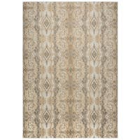 Rizzy Home Bennington Collection BI5568 Khaki and Beige Area Rug - 9' x 12'