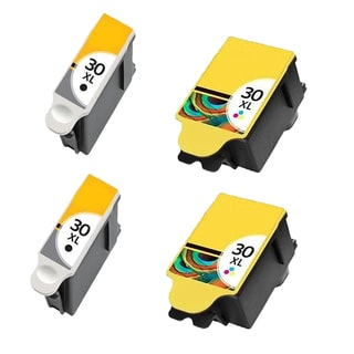 2 Set Kodak 1550532 #30XL Black 1341080 #30XL Color Compatible Ink Cartridge For Kodak Hero 3.1 5.1 ( Pack of 4 )