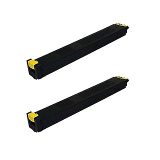 2PK Compatible MX-31NTYA Yellow Toner Cartridge For Sharp MX 2600N 3100N ( Pack of 2 )