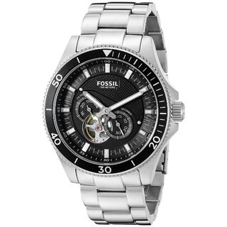 Fossil Men's ME3090 Wakefield Automatic Black Dial Stainless Steel Bracelet Watch