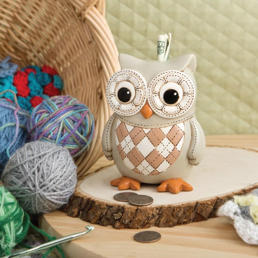 FashionCraft Owl Bank (Natural tone savings bank), Beige