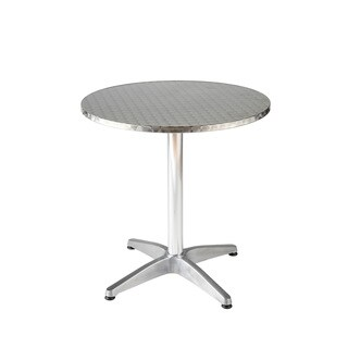 Allan Stainless and Aluminum Bistro Table