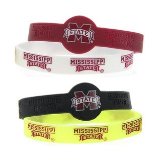 NCAA Sports Team Logo Silicone Rubber Wrist Band Bracelet (pack of 4)