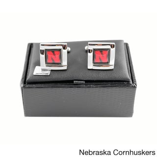 NCAA Sports Team Logo Square Cufflinks Gift Box Set (More options available)
