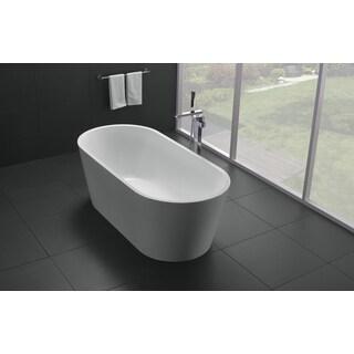 Eviva Alexa 60-inch White Free Standing Strengthen Acrylic Bathtub