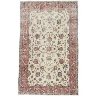 ecarpetgallery Melis Vintage Beige/ Yellow Wool Rug (5'9 x 9'1)