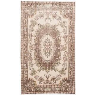 ecarpetgallery Anatolian Vintage Beige Wool Rug (5'6 x 9'3)