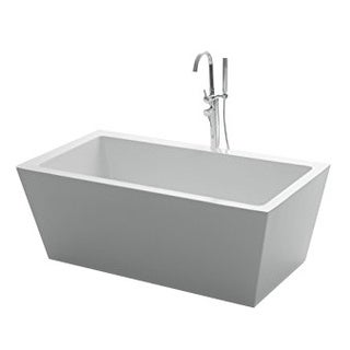"Eviva Natalia 63"" Bathroom White Freestanding Acrylic Bathtub"