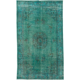 ecarpetgallery Color Transition Green Wool Rug (5'7 x 9'7)