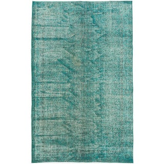 ecarpetgallery Color Transition Green Wool Rug (5'5 x 8'8)