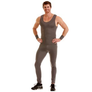 Insta Slim Men's Compression Long Pants (Option: Grey)